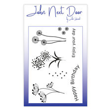 JOHN NEXT DOOR 7 x Clear Stamp Set SUMMER FLOWERS JND0002 John Lockwood A6