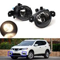 Pair Front Bumper Fog Light Lamp For Nissan Qashqai Micra X-Trail Renault Master