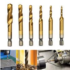 """1/4"""" Inch Hex Shank HSS Metric Right Hand Screw Thread Tap Taper Drill Bit Kit"""