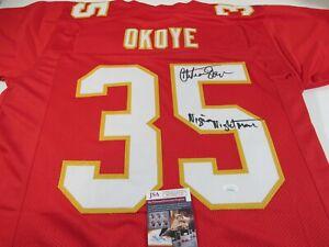 Kansas City Chiefs Christian Okoye Autograph Signed Jersey  Nigerian Nightmare