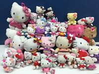 "Used VTG Modern LOT 39 Sanrio Hello Kitty Cat Plush Dolls Toys 4"" to 17"" tall"