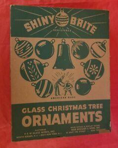 Vintage box of Shiny Brite Ornaments