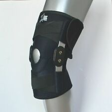 QUALITY DELUXE Knee Hinged Support Brace Guard Stabilizer Strap Open Patella