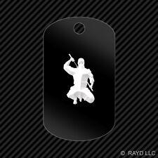 Ninja Keychain GI dog tag engraved many colors