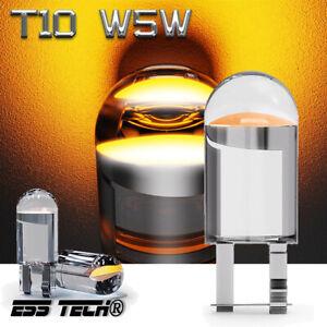 Ampoule LED T10 X4 Pcs ESS Tech® Cristal Orange Clignotant Latérale Rétroviseur