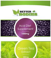 Strong Acai Berry Weight Loss & Green Tea Colon Cleanse Extreme Diet Capsules