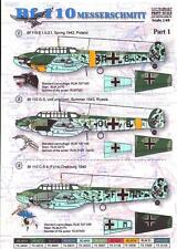 Print Scale Decals 1/48 MESSERSCHMITT Bf-110 German Fighter-Bomber Part 1