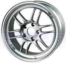 """ENKEI RPF1 Wheels 17x8"""" 5x100 45mm Offset SILVER WRX FXT BRZ Rim 379-780-8045SP"""