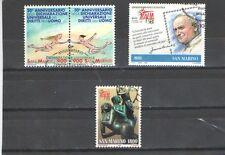 P7206 - S, MARINO 1998  - SERIE COMPLETE USATE - DIRITTI DELL'UOMO - FILATELIA