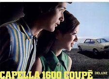 1970 MAZDA CAPELLA 1600 COUPE DELUXE Brochure