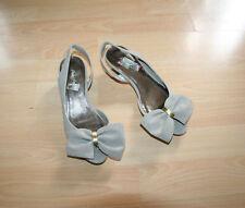Designer Portfolio Girls / Ladies Sling Back Big Bow Peep Toe Shoes Sz UK 3