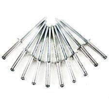 1000, 3.4 x 6mm OPEN TYPE DOME HEAD ALUMINIUM & STEEL POP RIVETS CE CERTIFIED *