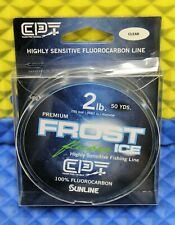 Clam Premium Frost Ice Fishing Line 100% Fluorocarbon 2 lb 50 YDS Clear 10970