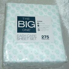 NEW The Big One Easy Care Queen 275 Sheet Set