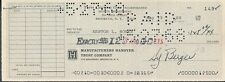 Topps Chewing Gum Processed Check To Ken Boyer Signed Sy Berger *0149