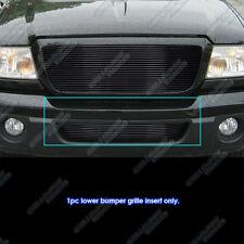 Fits 2006-2012 Ford Ranger Black Lower Bumper Billet Grille Grill Insert