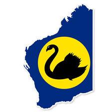 """Western Australia Map Flag car bumper sticker 5"""" x 3"""""""
