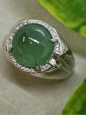 Icy Ice Green Burmese Jadeite Ring/冰种晴绿缅甸翡翠戒指