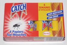 Set de 4 Rouleaux de Bandes Tue / Anti Mouches CATCH EXPERT Insect Catcher NEUF
