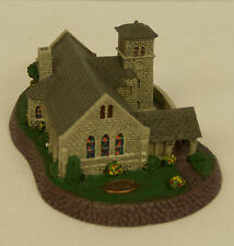 Norman Rockwell The Grey Stone Church Hometown Village Sculpture 82282 New / Box