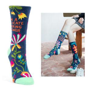 Women's Socks I'm A Delicate F--king Flower Amusing Funny Novelty Gift