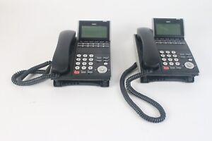 NEC DTL-12D-1P (BK) TEL DT300 Series IP Business Office Phone Lot of 2