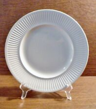 """2 Johnson Brothers ATHENA 10-1/8"""" White, Ribbed Dinner Plates EXCELLENT"""