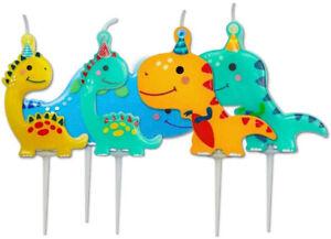 5 x Dinosaur Birthday Cake Candle Picks dinosaur Birthday Party Supplies