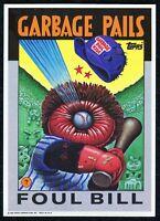 """1986 1st Series, Giant 5""""x 7"""" Garbage Pail Kids - Garbage Pails Foul Ball - #4"""