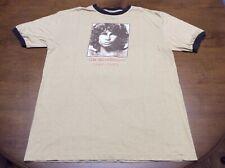 """The Doors """"Jim Morrison 1943-1971� Brown Ringer Shirt Adult Medium"""