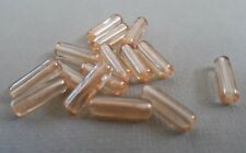 16 honey coloured transparent tube beads look 14mm. Lovely colour with lustre.