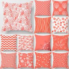"Modern Coral Pillow Case Sofa Car Throw Cushion Cover Home Living Room Decor 18"""