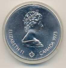 Canada Olympic Games Montreal 1976 Skyline Silver 10 Dollars 1973 BU