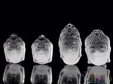 CLEAR QUARTZ Crystal Cabochon Buddha Head - Jewelry Making, Home Decor, E1678