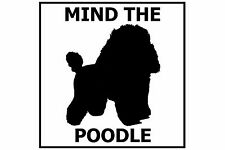 Mind the Poodle (Toy) - Gate/Door Ceramic Tile Sign