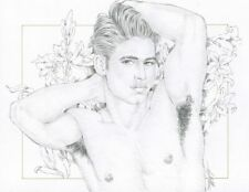 """Male Nude Gay Interest """"Le Parfeum"""" Original, NOT a copy by Mario Bieletto"""