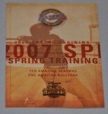 Atlanta Braves 2007 Spring Training Pocket Schedule (Disney's Wide World Sports)