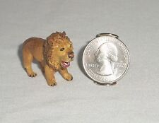 Dollhouse MINIATURE Wild Zoo Animal Lion Resin Figurine