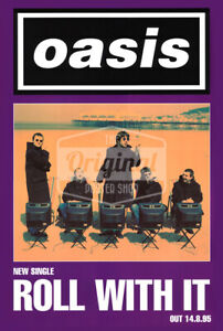 Oasis promo poster - Roll with it (1st Generation reprint)