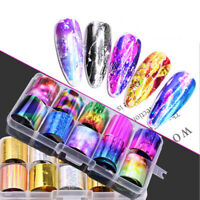 3D DIY Art Tips Nail Foil Nail Art Stickers Holographic Starry Manicure Decor