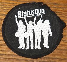 STATUS QUO HELLO ORIGINAL VINTAGE EMBROIDERED WOVEN COLTH SEWING SEW ON PATCH