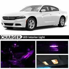 2015 - 2016 Dodge Charger Fuchsia Purple Interior LED Lights Package Kit
