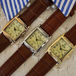 Eriksen Ladies Rectangular Vintage Retro Analog Dress Watch