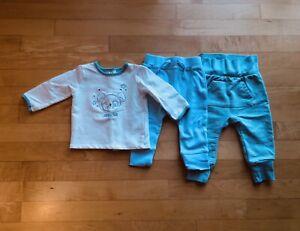 3-pc ABSORBA Baby Boy Sz 3-6 month Lounge Set Cotton Blue