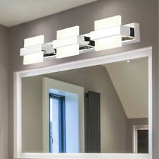 LED Wall Sconce Light Stainless steel Mirror Front Lamp Fixture Bathroom Acrylic