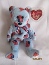 TY BEANIE BABY UNION BLACK NOSE BEAR - MINT - RETIRED