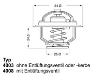 Thermostat Kühlmittel - Wahler 4008.79D