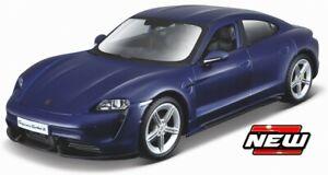 1:24 2019 Porsche Taycan Turbo S Coupe Die Cast Bburago blau
