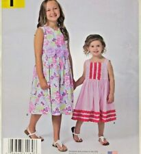 Simplicity Pattern A1189 Sizes 3-8 Childs Dress with Neckline Variations Uncut