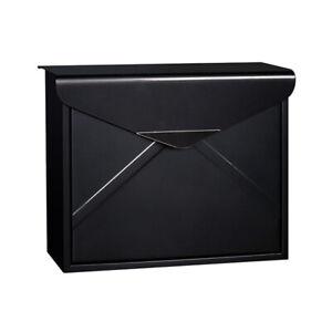 Modern Wall Mount Lockable Mailbox Outdoor Galvanized Steel Locking Letter Box